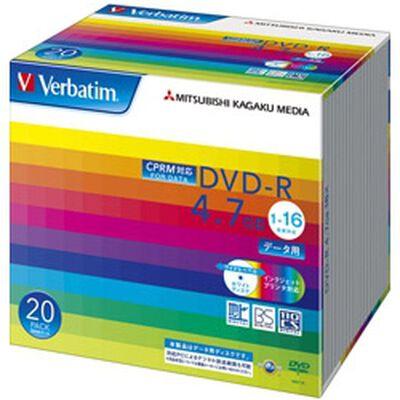 DVD-R 4.7GB CPRM PCデータ用 16倍速対応 20枚スリムケース入り ワイド印刷可能 DHR47JDP20V1