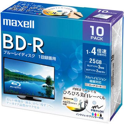 録画用 BD-R 標準130分 4倍速 ワイドプリンタブルホワイト 10枚パック BRV25WPE.10S