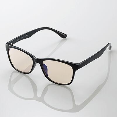 ブルーライトカット眼鏡/ブラウンレンズ/ウェリントンフレーム/ブラック G-BUB-W02BK