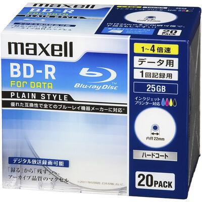 データ用BD-R 25GB 「PLAIN STYLE」インクジェットプリンター対応 (20枚パック)BR25PPLWPB.20S