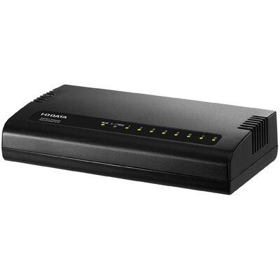 1000BASE-T(Gigabit Ethernet)対応 省電力機能付 8ポートスイッチングハブ ブラック ETG-ESH08KC