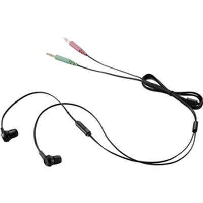 ヘッドセット/両耳カナルイヤホン/1.3m/ブラック HS-EP12BK