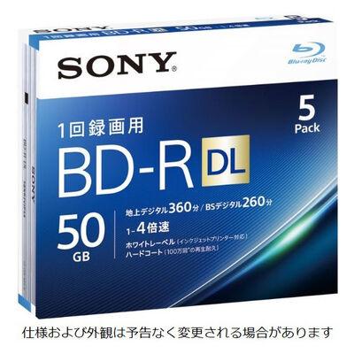 ビデオ用BD-R 追記型 片面2層50GB 4倍速 ホワイトワイドプリンタブル 5枚パック 5BNR2VJPS4