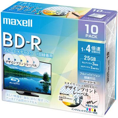 録画用 BD-R 標準130分 4倍速 デザインプリント 10枚パック BRV25PME.10S
