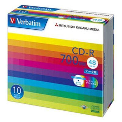 CD-R 700MB PCデータ用 48倍速対応 10枚スリムケース入り ワイド印刷可能 SR80SP10V1