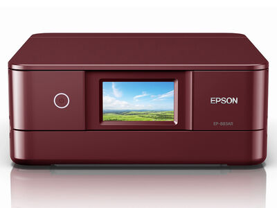 A4カラーインクジェット複合機/Colorio/6色/無線LAN/Wi-Fi Direct/両面/4.3型ワイドタッチパネル/レッド EP-883AR