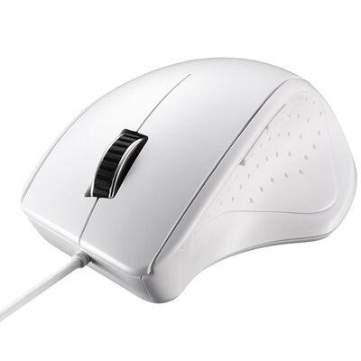 有線レーザー式マウス 静音/5ボタン ホワイト BSMLU300WH