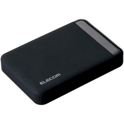 USB3.0 ポータブルハードディスク/ハードウェア暗号化/パスワード保護/2TB ELP-EEN020UBK