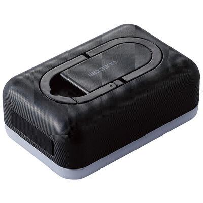 モバイルバッテリー/リチウムイオン/防災・アウトドア向け/6700mAh/2.4A/USB-A出力1ポート/LED機能付/ブラック DE-M21L-6700BK
