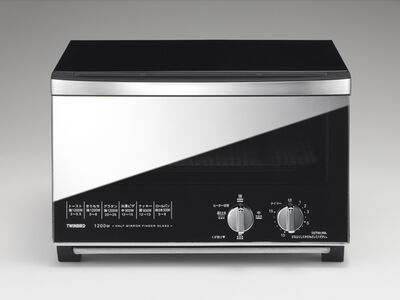 ミラーガラスオーブントースター (ブラック) TS-D048B