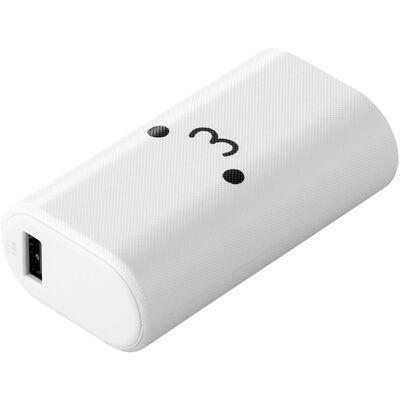 モバイルバッテリー/リチウムイオン/PD認証/18W/Type-C入出力/5000mAh/USB-A出力×1/Type-C×1/PSE適合/低電流モード/計20.5W/ホワイトフェイス DE-C17L-5000WF