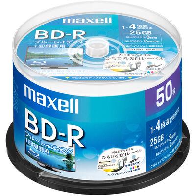 録画用 BD-R 標準130分 4倍速 ワイドプリンタブルホワイト 50枚スピンドルケース BRV25WPE.50SP