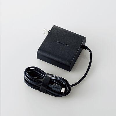 ノートPC用ACアダプター/USB Type-C/PD対応/65W/ケーブル一体型/2m/ブラック ACDC-PD0465BK