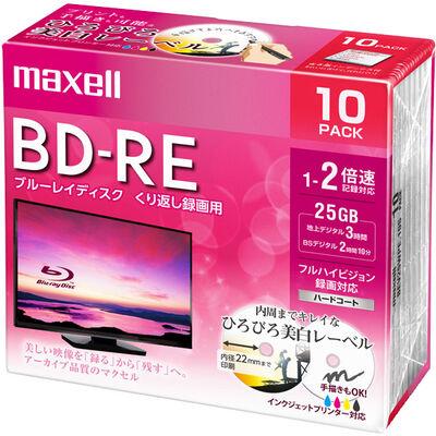 録画用 BD-RE 標準130分 2倍速 ワイドプリンタブルホワイト 10枚パック BEV25WPE.10S