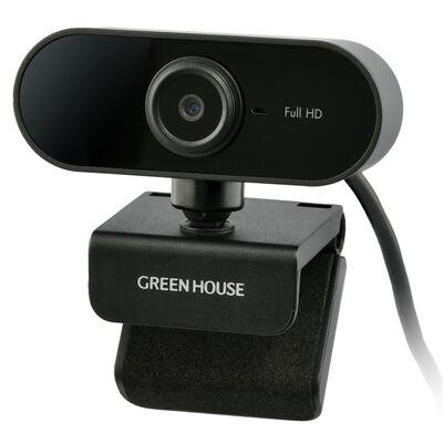 ウェブカメラ フルHD 1080P ブラック GH-WCMFA-BK