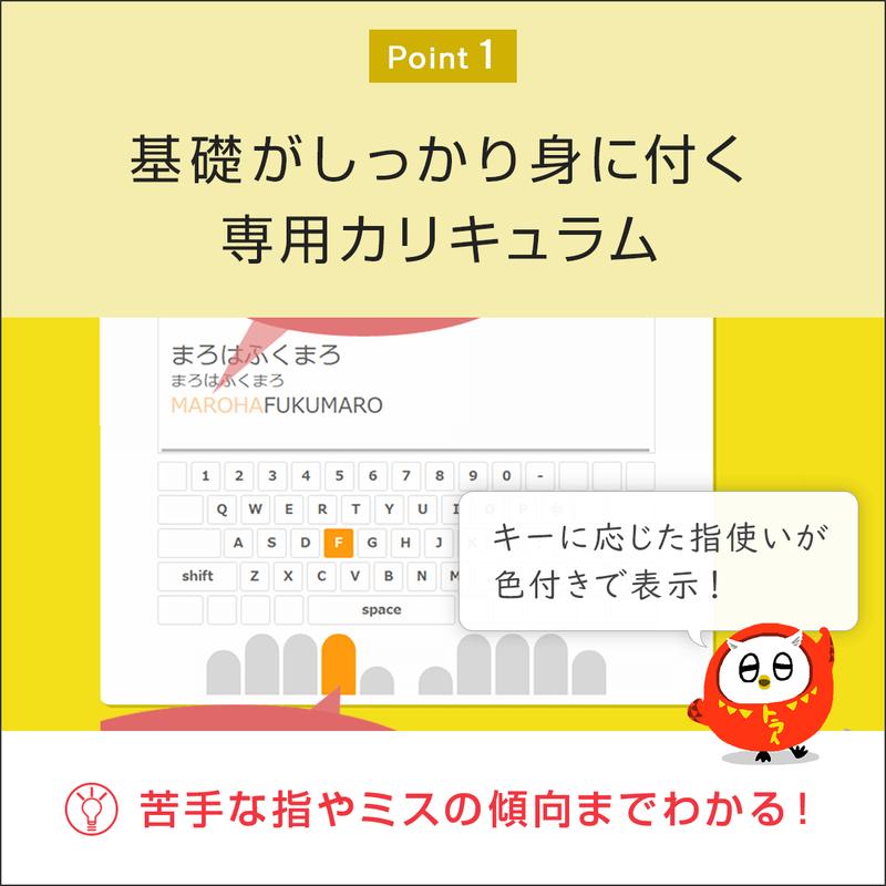 ふくまろタイピング-トップ画面