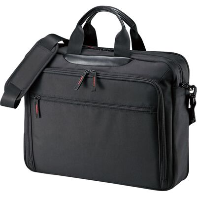 マチ拡張PCバッグ(15.6型ワイド対応・ブラック) BAG-W2BKN