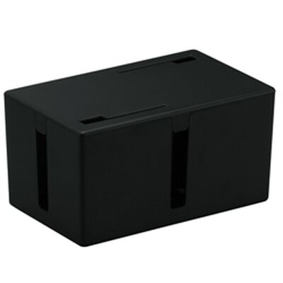 ケーブルボックス 電源タップ&ケーブル収容 Sサイズ ブラック BSTB01SBK