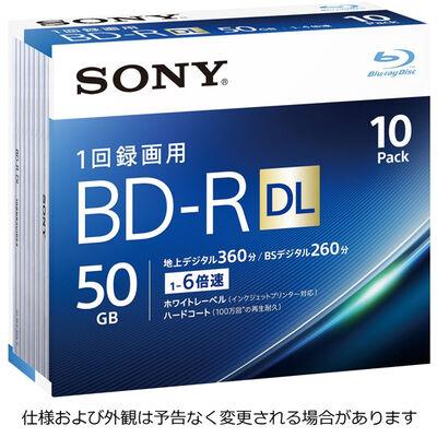 ビデオ用BD-R 追記型 片面2層50GB 6倍速 ホワイトワイドプリンタブル 10枚パック 10BNR2VJPS6