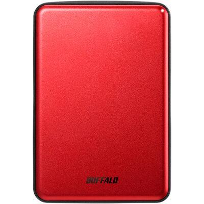 USB3.1(Gen.1)対応 アルミ素材&薄型ポータブルHDD 1TB レッド HD-PUS1.0U3-RDD