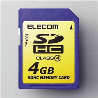 SDHCメモリカード 4GB/Class4対応 MF-FSDH04G