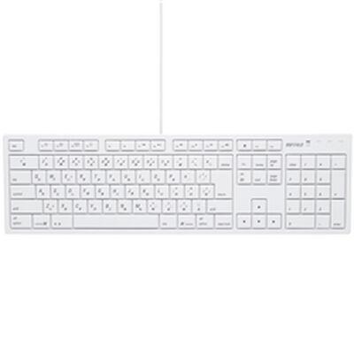 BUFFALO フルキーボード USB接続 パンタグラフ Macモデル ホワイト BSKBM01WH