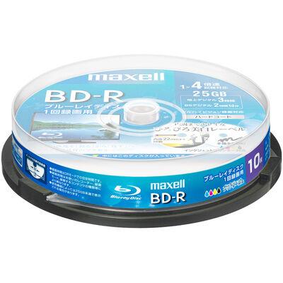 録画用 BD-R 標準130分 4倍速 ワイドプリンタブルホワイト 10枚スピンドルケース BRV25WPE.10SP