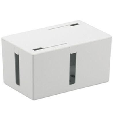 ケーブルボックス 電源タップ&ケーブル収容 Sサイズ ホワイト BSTB01SWH