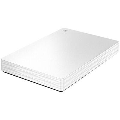 USB3.1 Gen1/2.0対応ポータブルハードディスク「カクうす Lite」 ホワイト 1TB HDPH-UT1WR