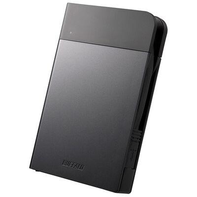 ICカード対応MILスペック 耐衝撃ボディー防雨防塵ポータブルHDD 1TB ブラック HD-PZN1.0U3-B