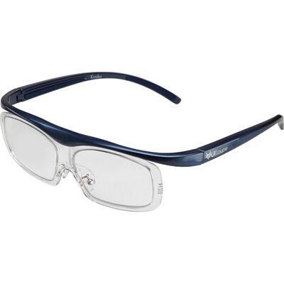 眼鏡型拡大鏡 ユイルーペ(YUIルーペ) ラージサイズ 1.6倍+1.89倍セット KTL-5107LBL (ブルー)