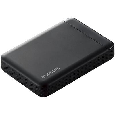 ビデオカメラ向けポータブルハードディスク/USB3.1/2TB/ブラック ELP-EDV020UBK