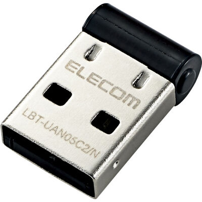 Bluetooth USBアダプタ/PC用/超小型/Ver4.0/Class2/for Win10/ブラック LBT-UAN05C2/N