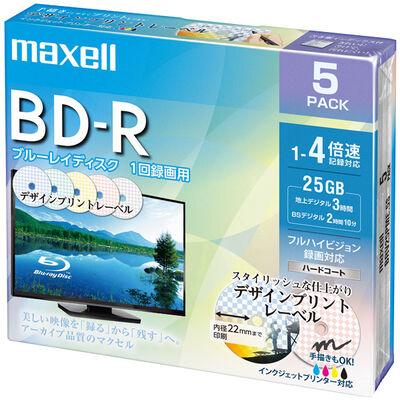 録画用 BD-R 標準130分 4倍速 デザインプリント 5枚パック BRV25PME.5S