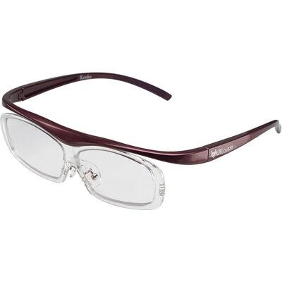 眼鏡型拡大鏡 ユイルーペ(YUIルーペ) レギュラーサイズ 1.6倍+1.89倍セット KTL-5104RPR (パープル)