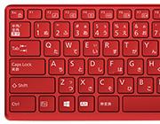 かな表記ありキーボード(赤)プリズムクリアキー