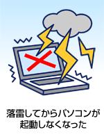 落雷してからパソコンが起動しなくなった